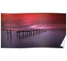 Binstead Hard Jetty Sunset Poster