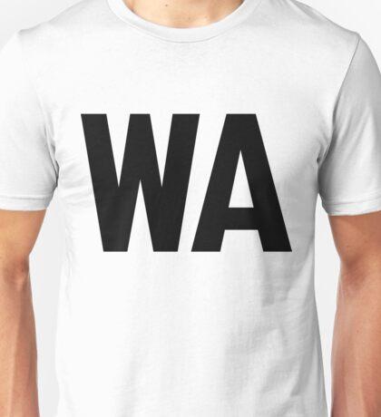 Washington WA Black Ink Unisex T-Shirt