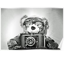 Max the Hipster Bear Poster