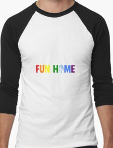 fun home-pride logo Men's Baseball ¾ T-Shirt