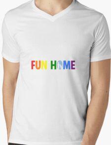 fun home-pride logo Mens V-Neck T-Shirt