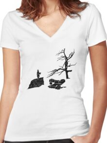 The Hobbit-Desolation Women's Fitted V-Neck T-Shirt