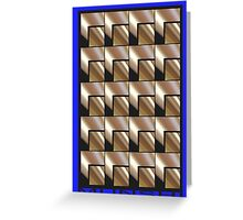 SQUARES ON EVERYTHING! Greeting Card