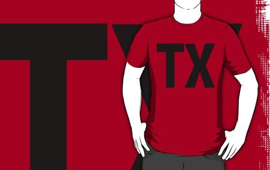 Texas TX Black Ink by FreshThreadShop