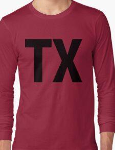 Texas TX Black Ink Long Sleeve T-Shirt