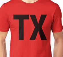 Texas TX Black Ink Unisex T-Shirt