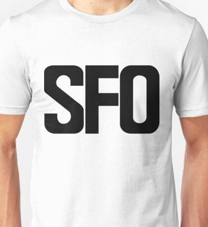 SFO San Francisco International Airport Black Ink Unisex T-Shirt