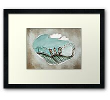 Wacky village Framed Print