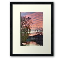 Shireoaks Sunset Framed Print