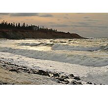 Chrome Afternoon Sea, Sandford N.S. Photographic Print