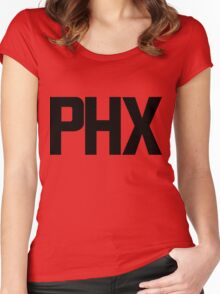 Phoenix Sky Harbor International Airport Black Ink Women's Fitted Scoop T-Shirt