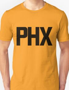 Phoenix Sky Harbor International Airport Black Ink Unisex T-Shirt