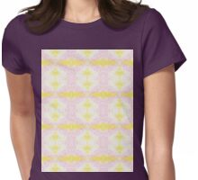 yellow and pink scribbles Womens Fitted T-Shirt