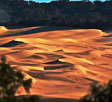Sandblows via lake wabby -fraser island by mandyemblow