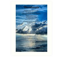 Desiderata 7 - Inspirational Art By Sharon Cummings Art Print