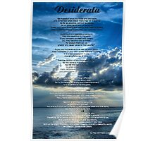Desiderata 7 - Inspirational Art By Sharon Cummings Poster