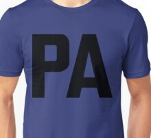 Pennsylvania PA Black Ink Unisex T-Shirt