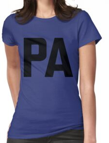 Pennsylvania PA Black Ink Womens Fitted T-Shirt