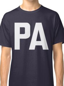 Pennsylvania PA White Ink Classic T-Shirt