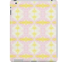 yellow and pink scribbles iPad Case/Skin