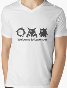 Welcome to Lavender Town Mens V-Neck T-Shirt