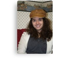 Amy, our hat girl Canvas Print