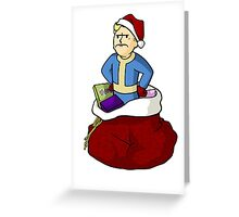 Mad Christmas Vault boy Greeting Card