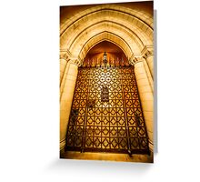 Chapel Gates Greeting Card