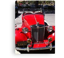 Red classic car Canvas Print
