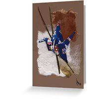 Blue flapping bird # 2 Greeting Card