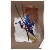 Blue flapping bird # 2 Poster