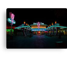 Flo's V8 Cafe @ Cars Land in Disney California Adventure! Canvas Print