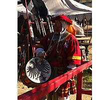 Renaissance Faire Redhat Black Dragonfly Photographic Print