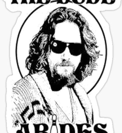 The Big Lebowski Dude Abides Sticker