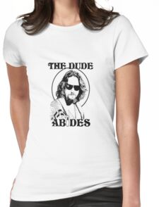 The Big Lebowski Dude Abides Womens Fitted T-Shirt