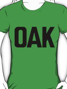 OAK Oakland International Airport Black Ink T-Shirt