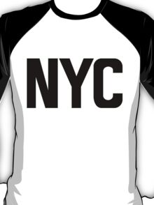 NYC New York City Black Ink T-Shirt
