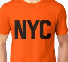 NYC New York City Black Ink Unisex T-Shirt