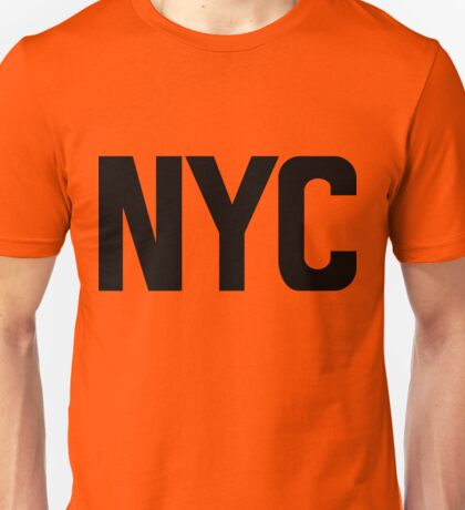 NYC New York City Black Ink Unisex T-Shirt