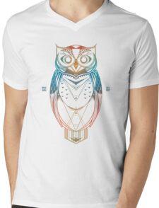 Wise Bird Mens V-Neck T-Shirt