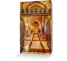 Cathedral Chapel III Greeting Card