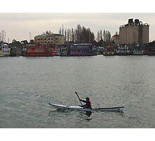 Redrust houseboat  Photographic Print
