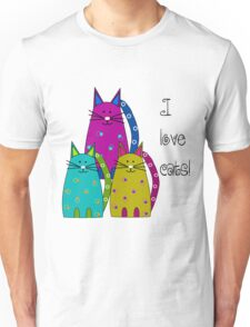 Whimsical Cats  Unisex T-Shirt