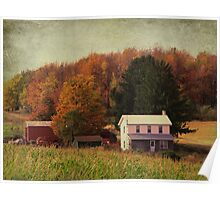 Fall on the farmland Poster