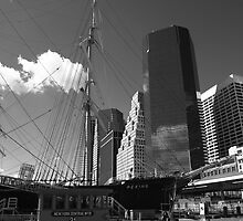 South Street Seaport - New York by Frank Romeo