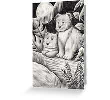 Fantasy Creature In The Moonlight Greeting Card