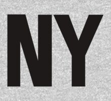 New York NY Black Ink by FreshThreadShop