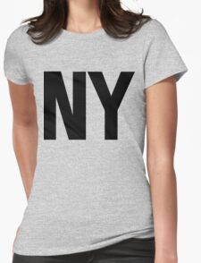 New York NY Black Ink Womens Fitted T-Shirt