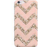 PINK GLITTER CHEVRON iPhone Case/Skin