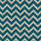 CHEVRON GLITTER-TEAL by MadNic